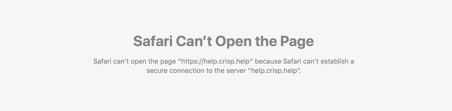 Helpdesk SSL warning for a domain