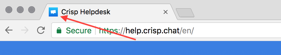 This is the Favicon of Crisp own Helpdesk (ours is the Crisp logo)