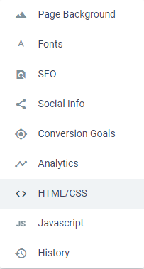Go to HTML/CSS and then Body