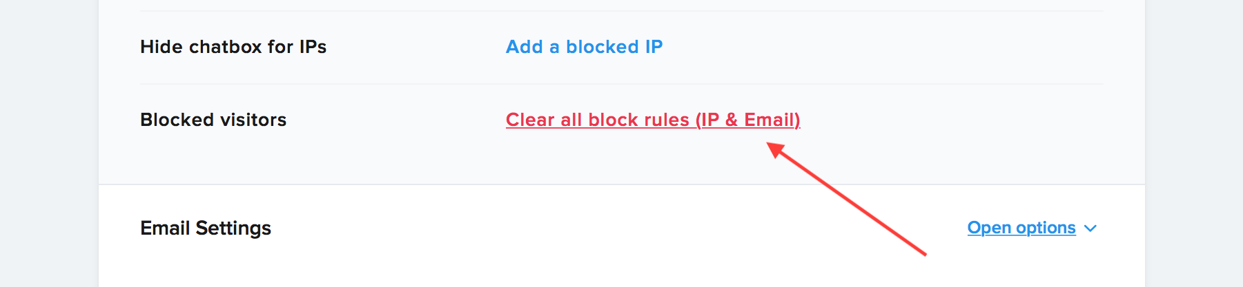 Clear your blocked visitors