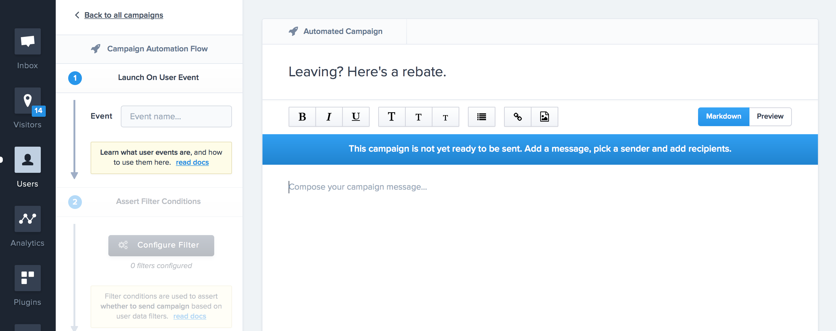 Configure your Automated Campaign