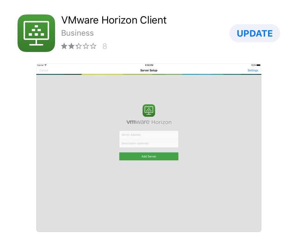 VM Horizon App