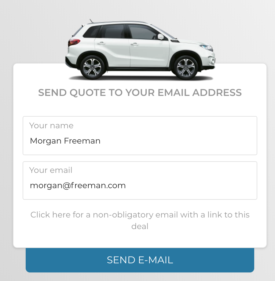 Send quote to your email