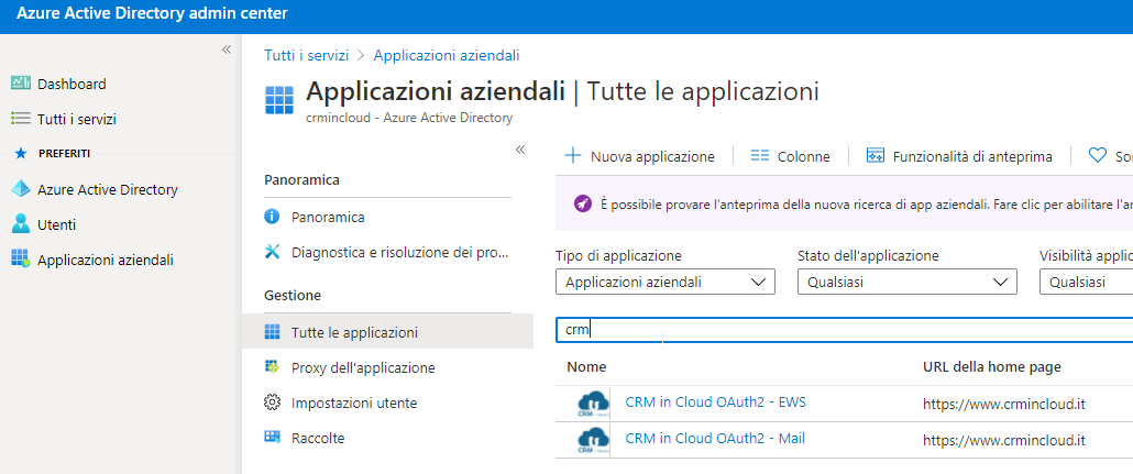 AAD - CRM App