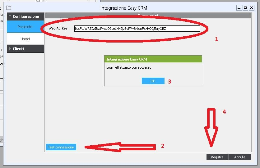 Parametri Alyante / Teamsystem Enterprise per Connessione a CRM in Cloud