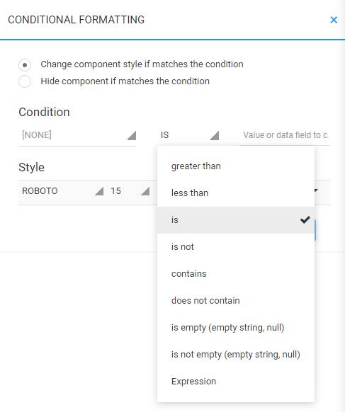 Conditional Formatting Sidebar