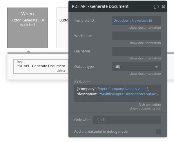 PDF API - Generate Document