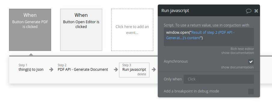 Toolbox - Run javascript
