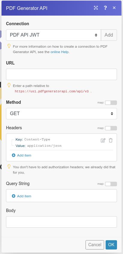 Configuring Make API call