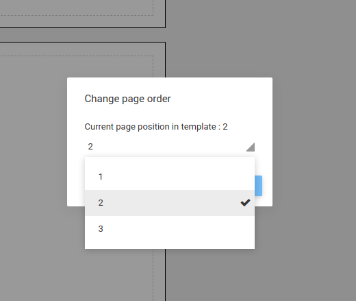Change page order