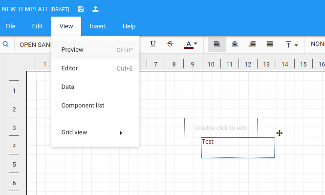 Enable grid view for editor