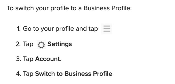Ensure a Business Profile