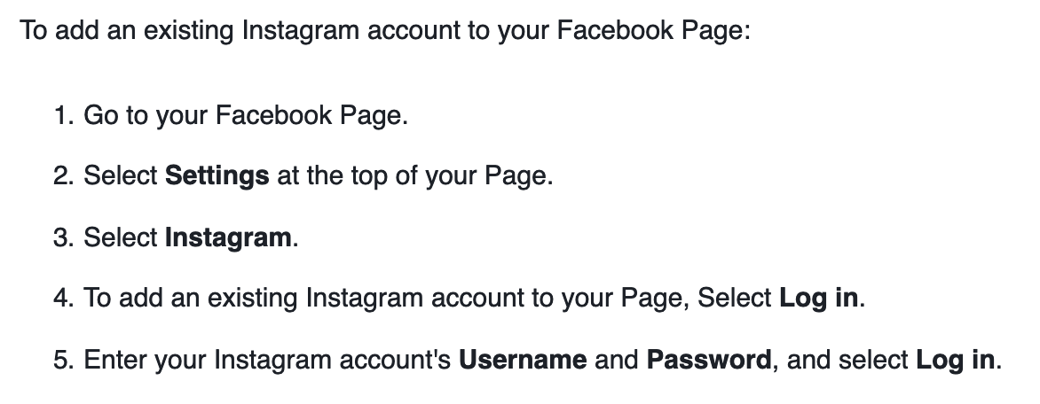 Connect the Instagram Profile on Facebook