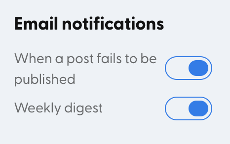 Don't want these emails? Just toggle them off!