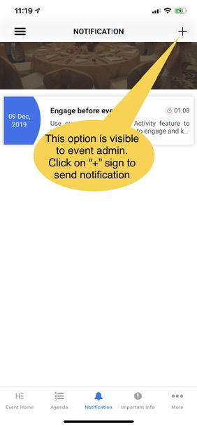 How can I send notification from App