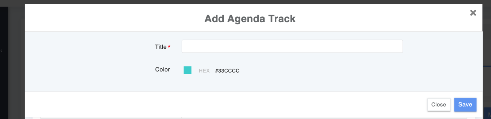 Add Tracks to your Agenda
