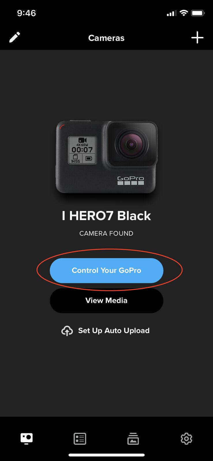 GoPro control