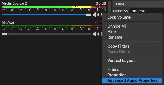 Tweaking audio properties
