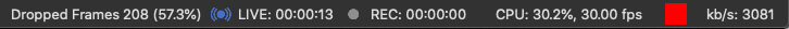 Status Bar with upload speed problems