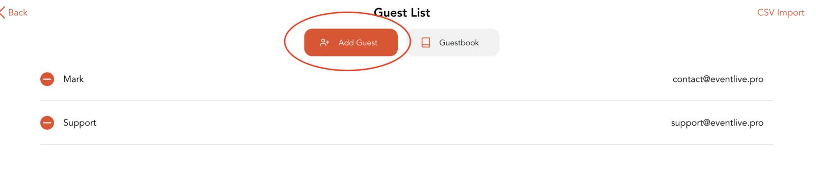 Add guest
