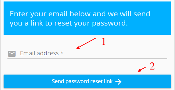 Step 1: Send Reset Password Email