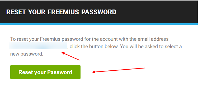 Step 2: Email with Reset Password Link