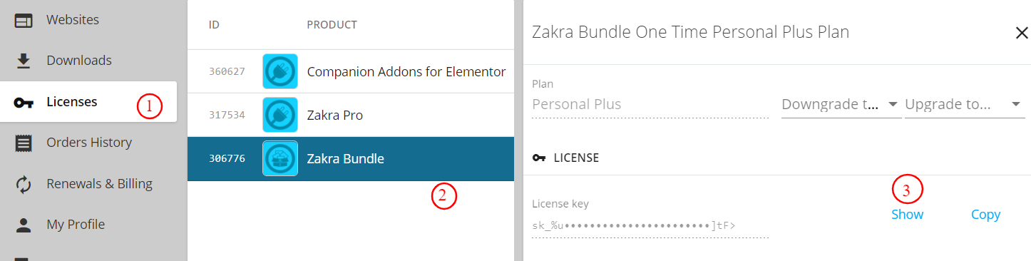 View Zakra Pro License Key