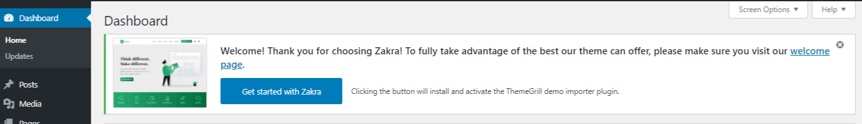 Installing ThemeGrill Demo Importer plugin in one click