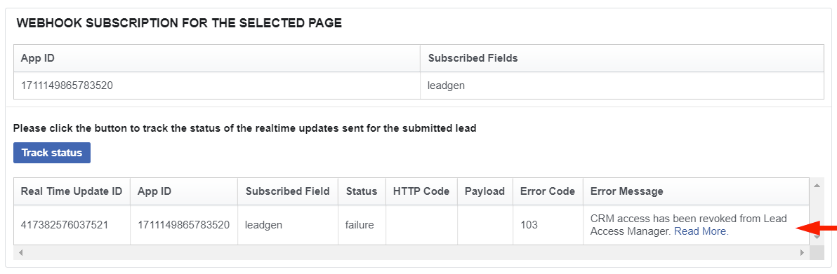 CRM access has been revoked from Lead Access Manager