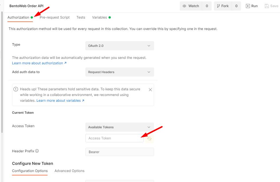 กรอก Access Token ที่ได้จาก OAuth