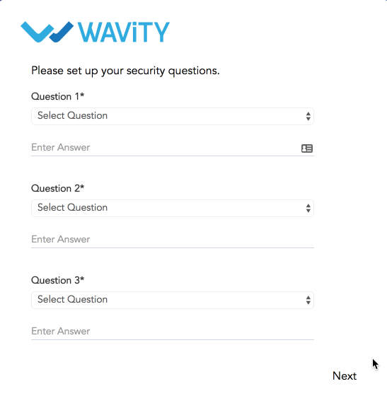 Set Security Questions