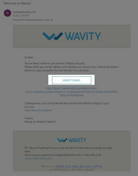 Verify Activation Email