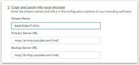 YouTube Ingestion Settings