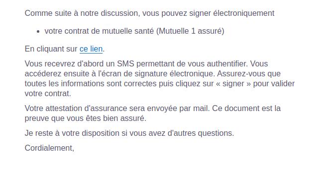 mail signature électronique