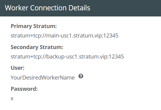 worker connection details example