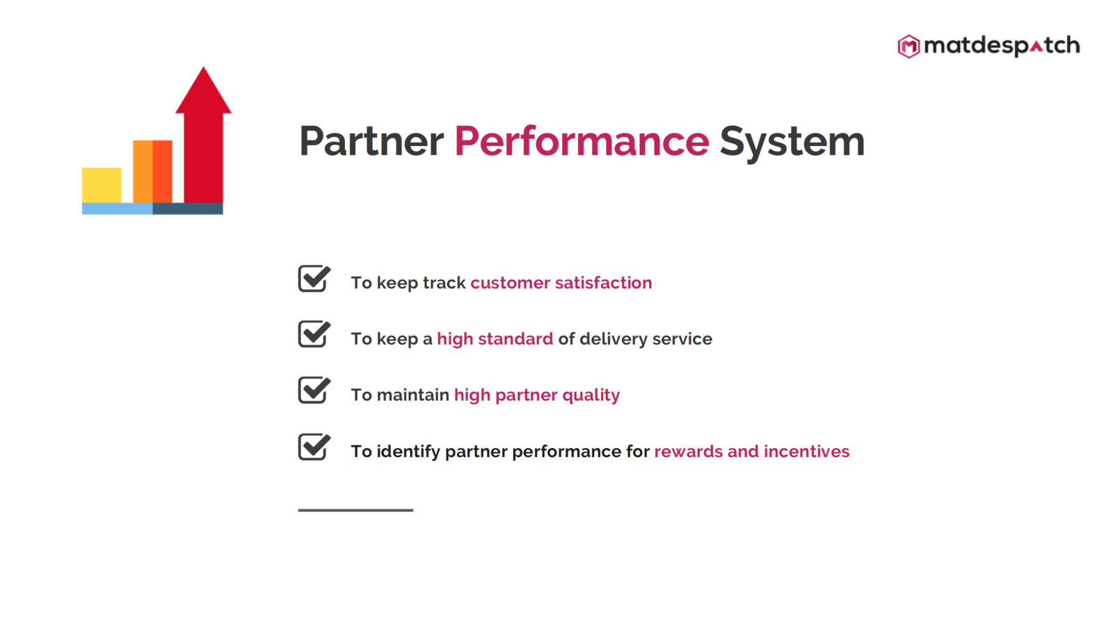 Matdespatch Partner Performance