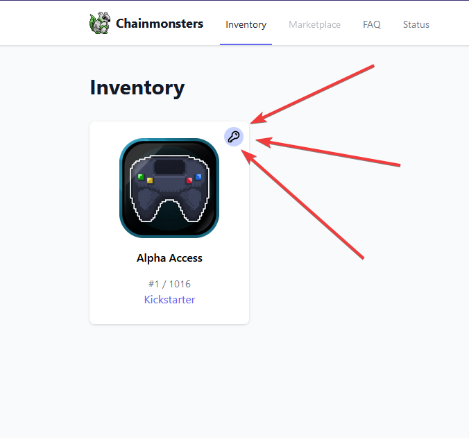 Image showing Alpha Access item in inventory