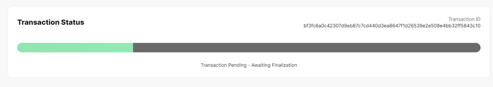 Processing transaction