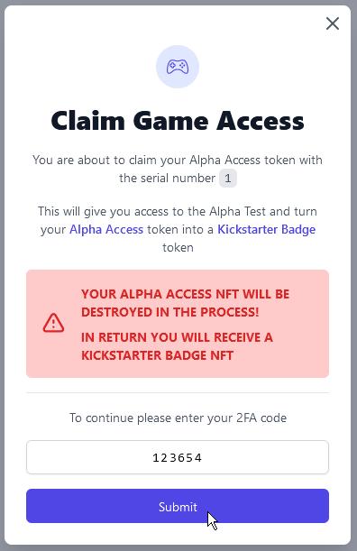 Entering 2FA code
