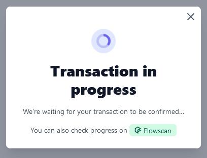Transaction pending