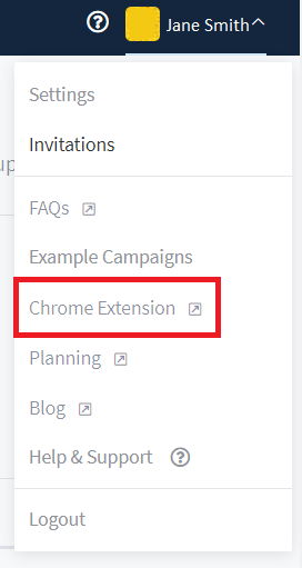 Profile Settings > Chrome Extension