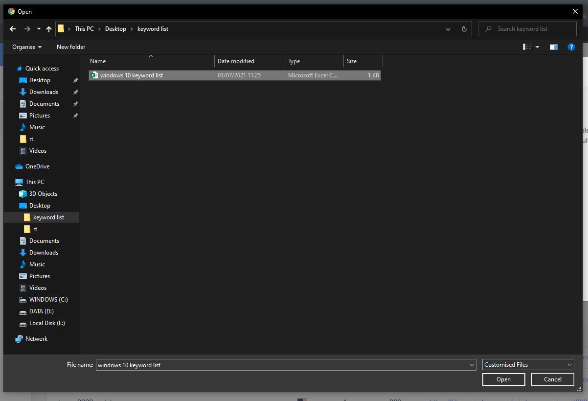 windows file upload