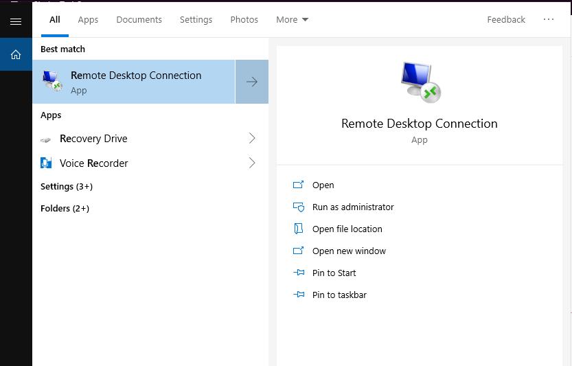Remote Desktop بحث بـ