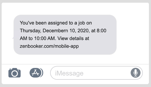 Job assigned notification example