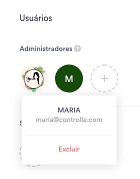 Excluindo um usuário