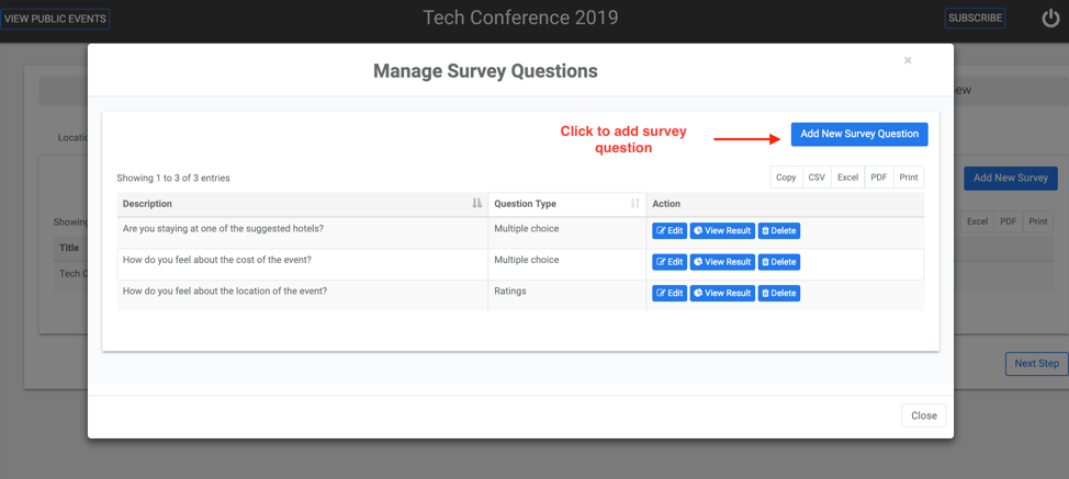 Manage Survey Questions