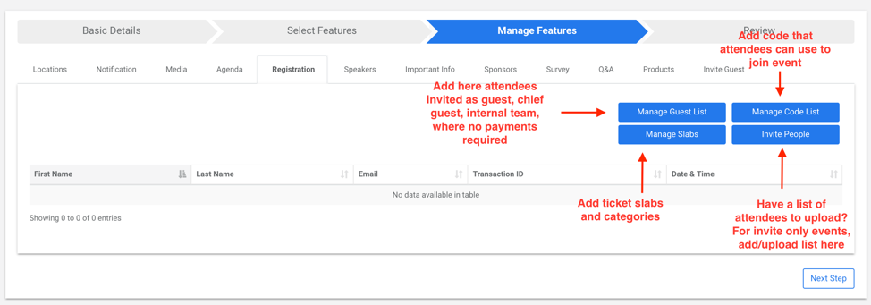 Manage Access In The Registration Screen