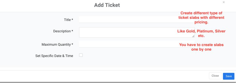 Adding Ticket