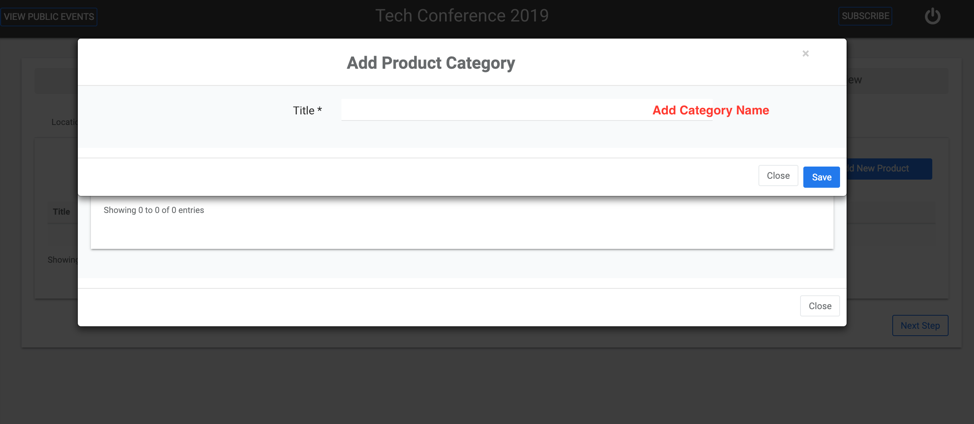 Add A Product Category