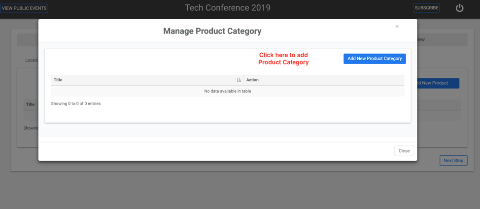 Manage Products or Services Category